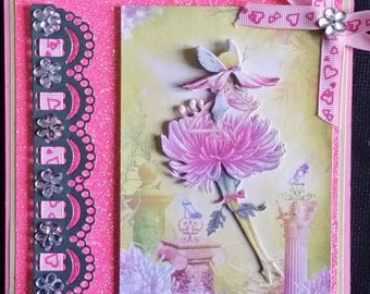 card with 3d fairy Queen Margaret's image