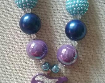 Bright Guitar Bubble Gum Bead Necklace