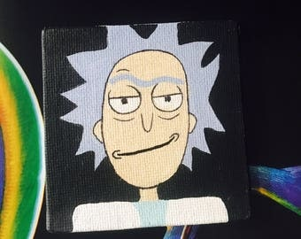 Hand painted Rick and Morty magnets