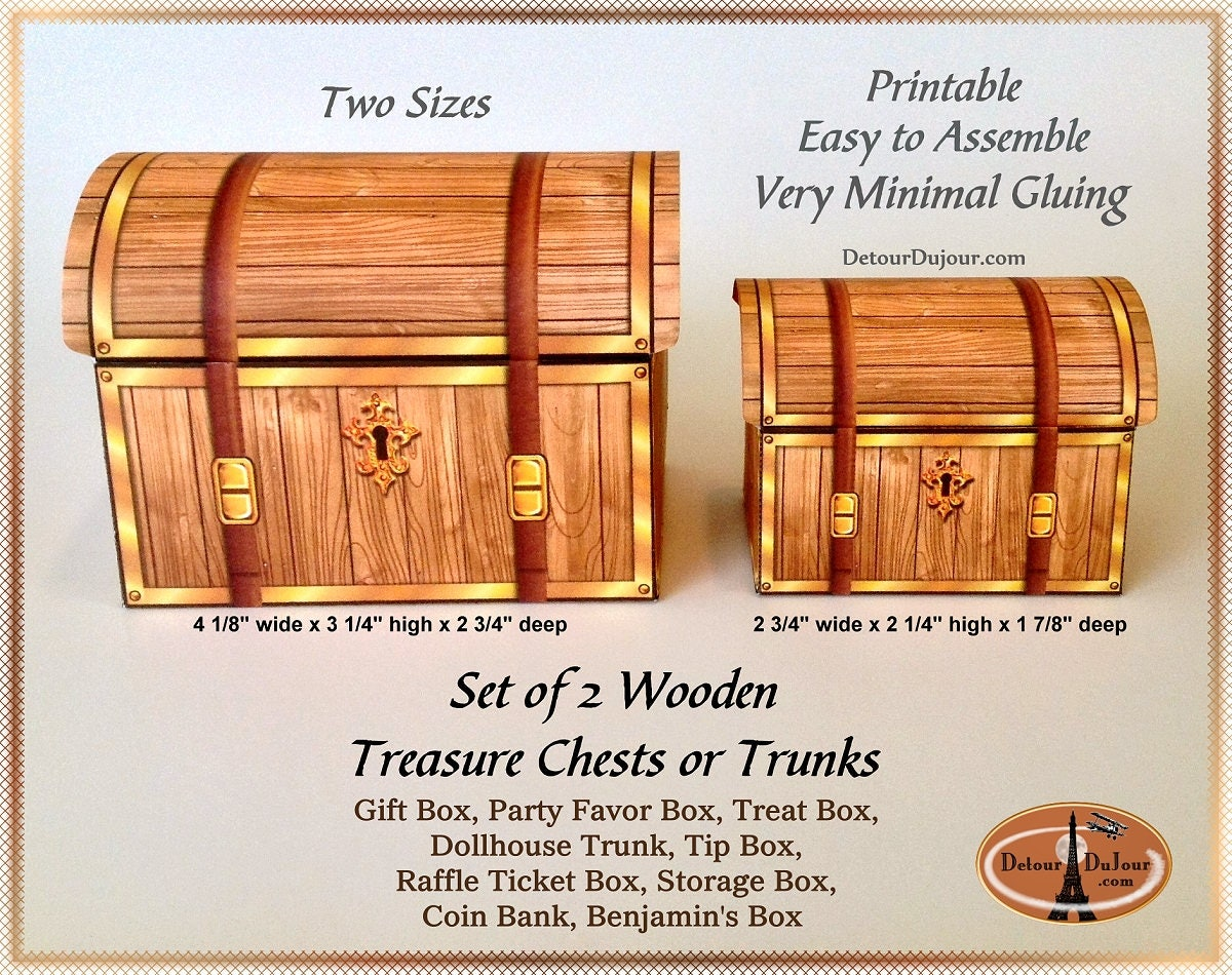 This is a picture of Impeccable Printable Treasure Chest