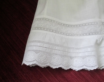 Edwardian Baby/Toddler Broderie Anglaise Pinafore/Petticoat SZ 2 #17166