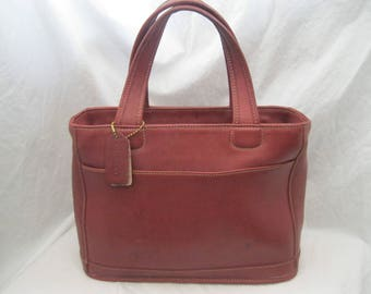 Red Leather Coach Tote 9303
