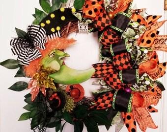Halloween Wreath, Witch Wreath, Grapevine Wreath, Door Decor, Halloween Decor, Witch Decor, Halloween Witch Wreath, Witch Grapevine Wreath