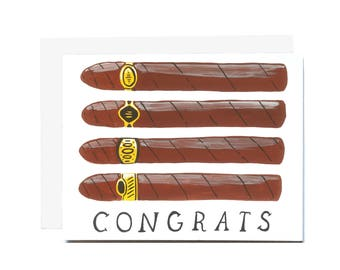 Congrats Cigars Card
