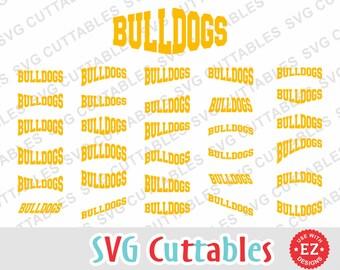 Bulldogs svg, Bulldogs cut file, Bulldogs layouts, EZ Layouts, svg, eps, dxf, bulldog svg, Silhouette file, Cricut cut file, digital file