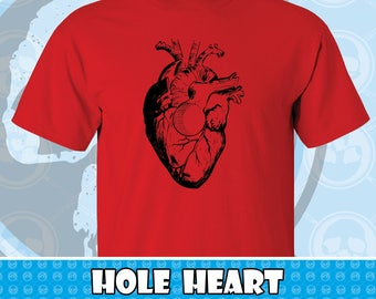 Hole Heart Graphic T-shirt Several Colors