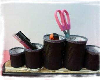 "Set of iron pots recycled ""Curiosities"" set of iron pots. clean up."
