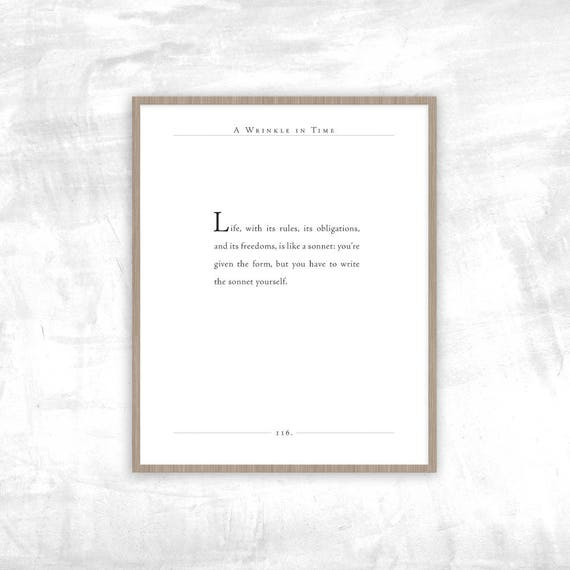 Quotes From A Wrinkle In Time: Madeleine L'Engle Quote A Wrinkle In Time Print Life