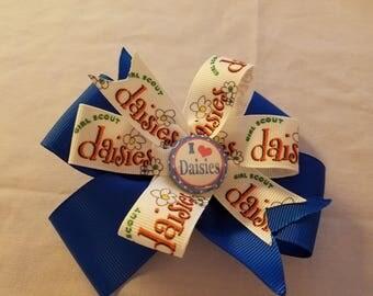 I Love Daisies hair bow