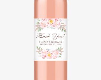 Wedding wine labels (6) - Wine bottle labels - Thank you wine bottle labels - Wine bottle stickers (WB002)