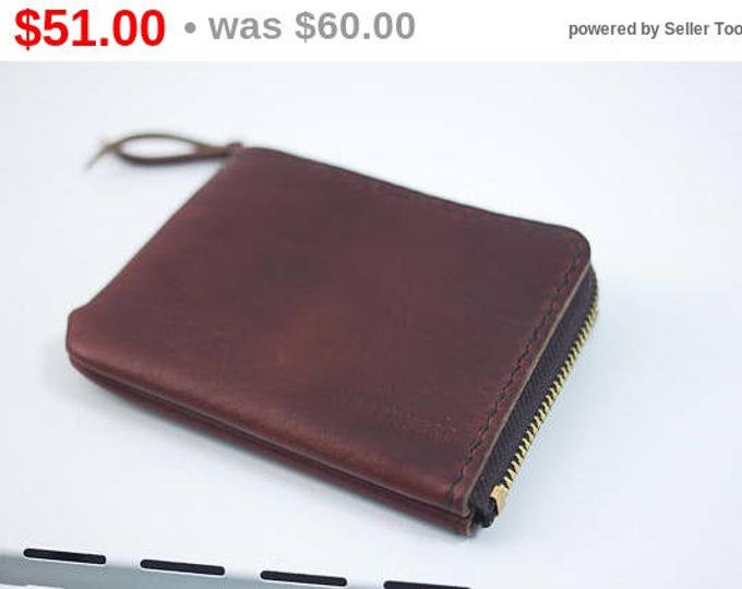 Horween Leather Mini Zip Wallet