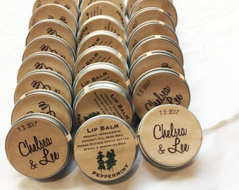 natural wedding mint favors / organic peppermint lip balm / rustic favor mint to be party guest bridal shower / engagement party favors