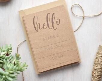 Kraft Baby Milestone Cards - New Baby Gift - Christening Gift - Birth Announcement - Gender Neutral Gift