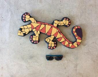 Gecko, fence art, outdoor sculpture