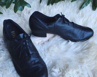 Summer SALE 90's BLOCH Tap Shoes, Women's 8 M Tap Dance Shoes, Black Leather Tap  Shoes