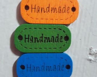 55 pcs multi coloured Wood buttons for Handmade craft