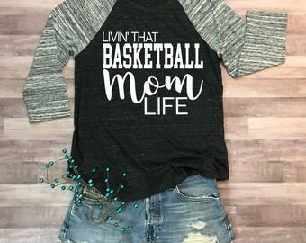 Basketball Mom Life Eco Jersey Raglan