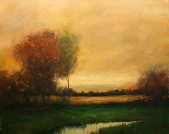 Landscape Original Oil Painting Large