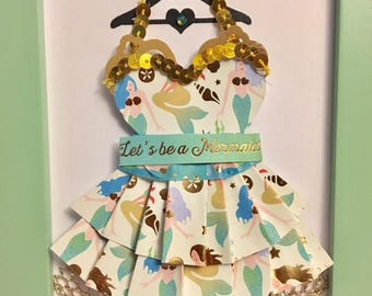 Enchanted Mermaid Paper Dress