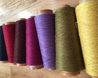 SAORI GARDEN: Hemp yarn cone set