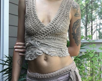 Upcycled Faerie Goddess Wrap Top