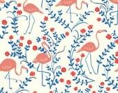 PINK FLAMINGOS  - ORGANIC Knit Fabric
