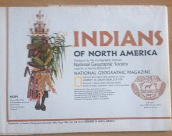Indians of North America, Supplement to National Geographic Magazine, 1972, Vol 142 No 6