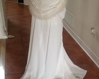 Pretty wedding cape