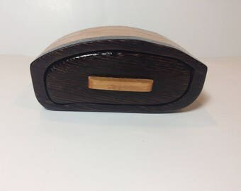 Handmade Wenge and Cherry Wood Bandsaw Jewelry Keepsake Box