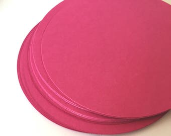 Circles, Cut out circle, Cardstock, Paper, scrap booking, Card Stock, Tags, Confetti, Blank, Large - Pack of 25, 50, 75, 100 or 200