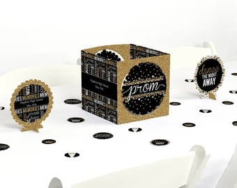 Prom - Centerpiece & Table Decoration Kit - Prom Night Decorations - Junior Prom Decor - Senior Prom Centerpiece - School Dance - 39 Ct.