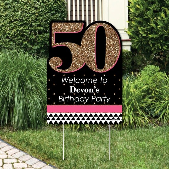 Chic 50th Birthday Party Decorations Birthday Party Personalized