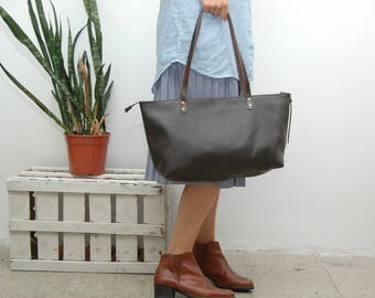 Leather tote bag,everyday bag,supple leather,soft leather