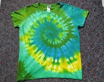 tie dye women's shirt, large, tie dye, earth day, nature shirt
