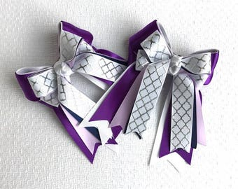 SHORTY - Equestrian bows, Equestrian clothing, Over Fences in Purple Plus One