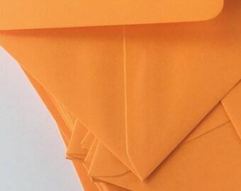 """50 4x6 Orange Envelopes A6 Envelopes C6 Envelopes for modern wedding invitation envelopes/card making/diy craft True Size 4.1/2 x 6.3/10"""""""