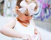 Peach Cotton Candy headband