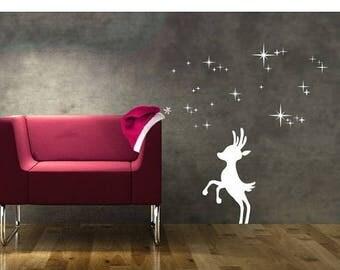 20% OFF Summer Sale Reindeer Christmas wall decal, sticker, mural, vinyl wall art