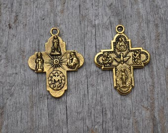 Small Gold Cross Charm