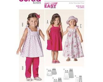 Burda Pattern 9437 Toddler Coordinates