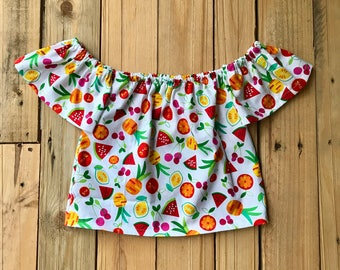 Tuity fruity off the shoulder top 24 months/2t