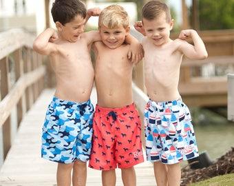 Boys' Swimsuit / Boys' Monogrammed Swim Trunks