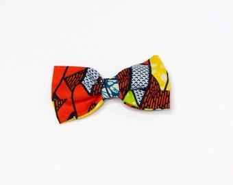 African Fabric Bow , Bow Tie , hair Bow, Ankara ,Headband  Hair Bow with elastic For Women