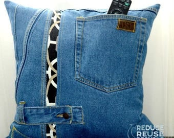 Denim Pillow 17 x17 inches