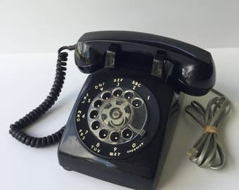 1950s Black Bell System by Western Electric G3 Rotary Telephone
