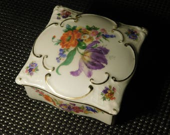 Martinroda-Friedrich Eger & Co, Porcelain, German Made, Trinket Box