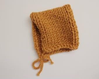 Knit Baby Bonnet