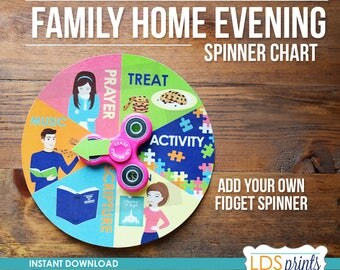 FHE002 - Family Home Evening FHE Assignment Spinner Chart
