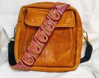 Pink Boho Guitar Purse Strap; Clip on Purse Strap: Boho Beaded Purse Strap; Detachable Purse Strap; Purse Strap; Purse Strap for Women