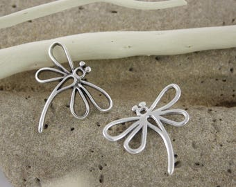 Antique silver Dragonfly pendant